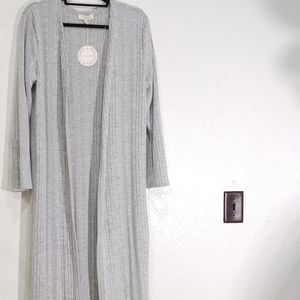 Umgee Plus Open Front Long Cardigan NWT 1X